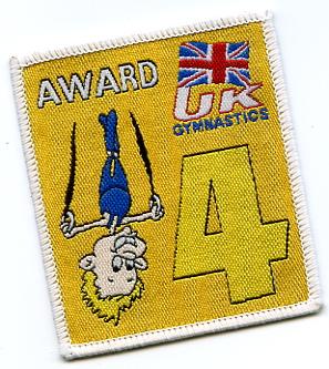 Gym Award Badge Sew On or Iron On