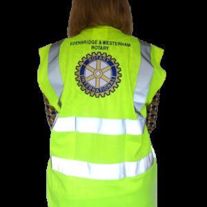 Rotary Large logo High Vis Waistcoat