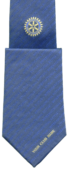 Rotary Tie with Club and Presidents details
