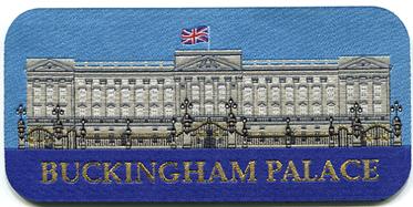 Buckingham Palace Sew On Woven Badge 13.6cm x 6.6cm