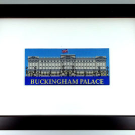 Buckingham Palace Jacquard Woven Picture in Frame 25.5cm x 18.5cm