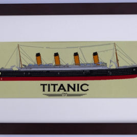 Titanic Jacquard Woven Picture in Frame 39cm x 23cm