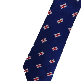 St Georges Jacquard Woven Tie 3.5 inch tip