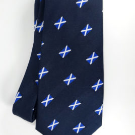 Scottish Flag Jacquard Woven Ties 3.5 inch tip
