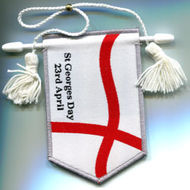 St Georges Day Double Sided Woven Pennant