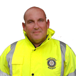 Rotary Personalised Hi Vis Jackets your Club Logo detailed with Name and Office