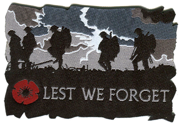 Lest We forget Woven Badge