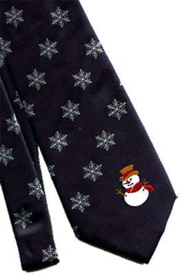 Christmas Snowman Ties